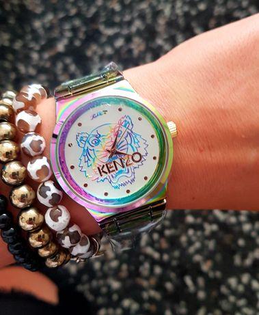 Śliczny Zegarek na prezent damski lub męski Kenzo z pudełkiem kameleon