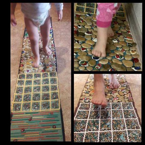 Детский ортопедический массажный развивающий коврик