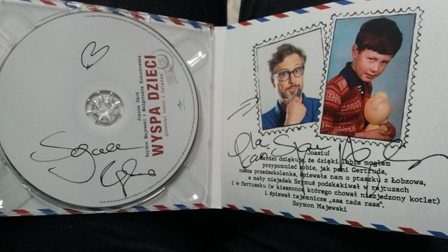 Wyspa dzieci: Piosenki babci i dziadka CD Szymon Majewski AUTOGRAF