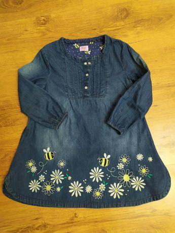 Платье джинсовое F&F на 3-5 лет до 116 см