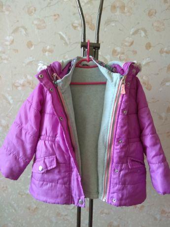 Зимний комбинезон и куртка в идеальном состоянии для девочки 3-4 лет
