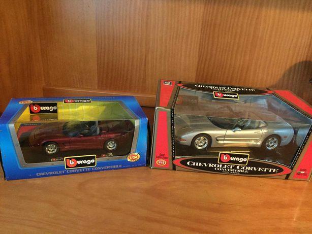 Coleção de carros usados -  Chevrolet Corvette 1/18 e 1/24 Urago