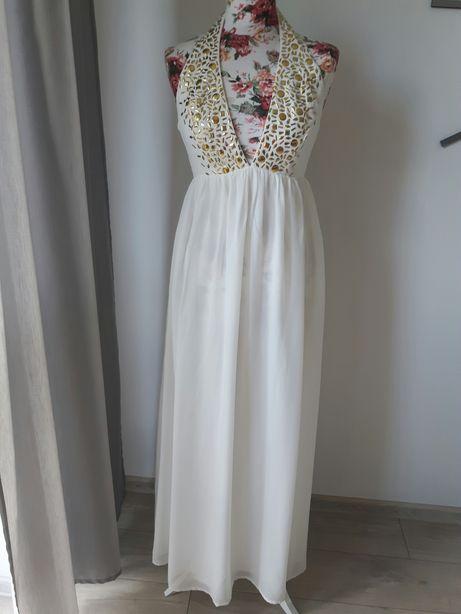 Suknia sukienka ślubna ecru r. 36 Nowa