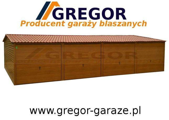 Garaż blaszany 12x5m blaszak drewnopodobny