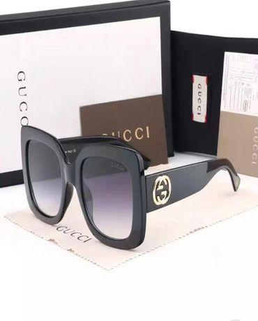 Okulary przeciwsłoneczne Gucci black gray gradient nowe
