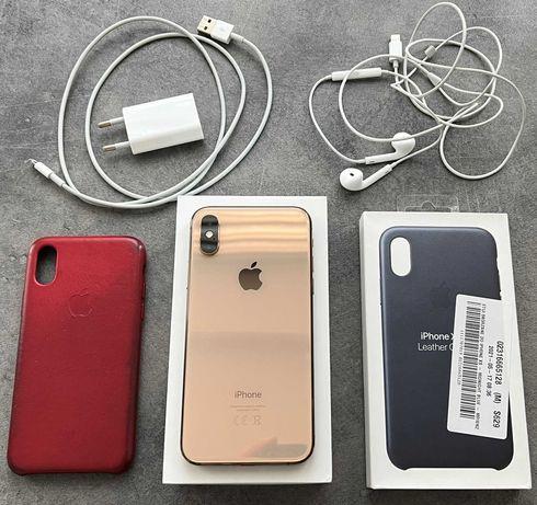 iPhone XS 256 GB Gold (używany), nowa bateria, jak nowy