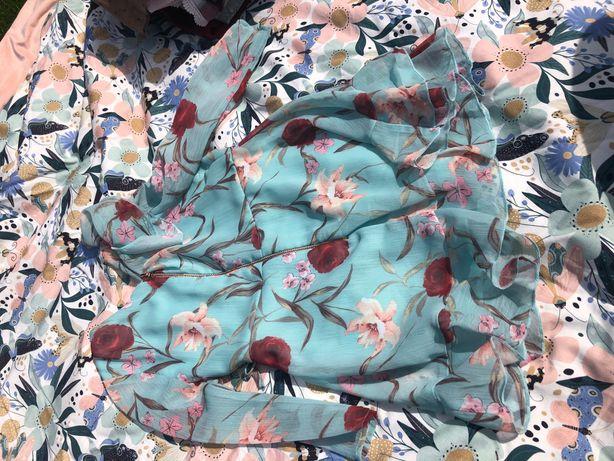 Sukienka 86 falbanki od zara z kwiaty
