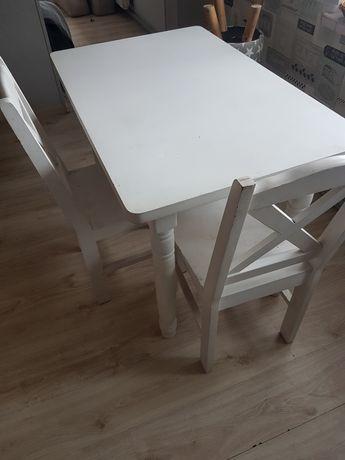 Stół biały drewniany styl skandynawski do renowacji