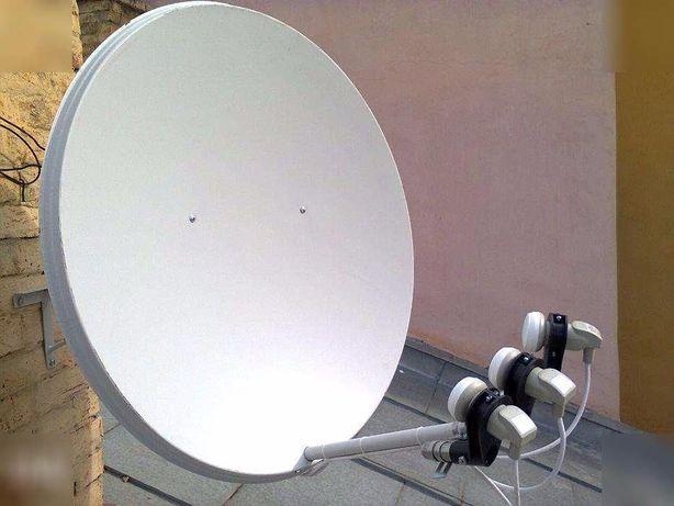 Установка и ремонт спутниковых тарелок, Т2 антен антенн Прошивка. ТВ