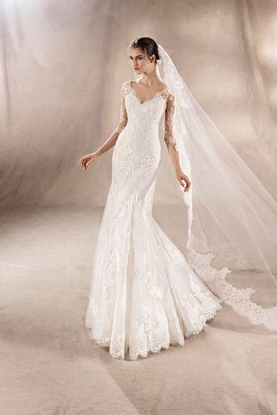 suknia ślubna White One Yuana 36/38 warta 3400 zł + welon