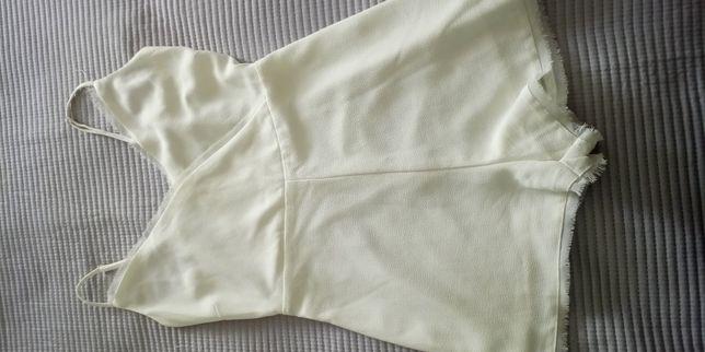 macacão-calção branco Pull&Bear