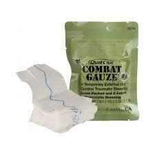 Quick Clot COMBAT GAUZE - Gaze pró coagulante