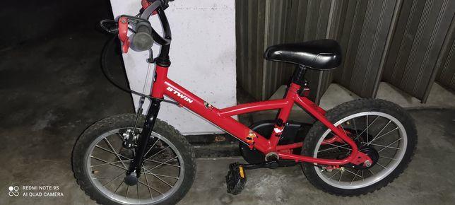"Bicicleta Btwin roda 16"" travão fácil"