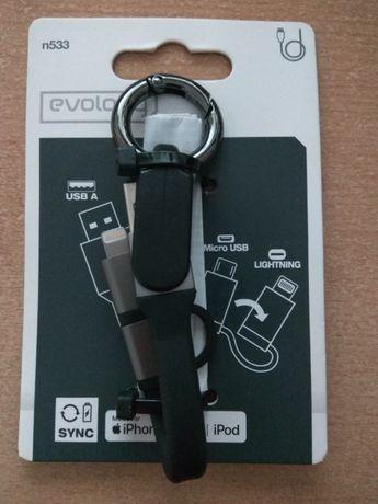 Apple cabo USB A para Micro USB / Lightning
