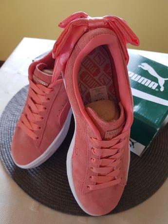Nowe Puma Sneacersy rozmiar 38.5 - różowe