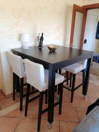 Mesa alta refeição IKEA + 4 Cadeiras