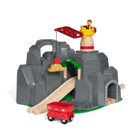 Деревянная железная дорога Brio 33889 Кран и горный туннель