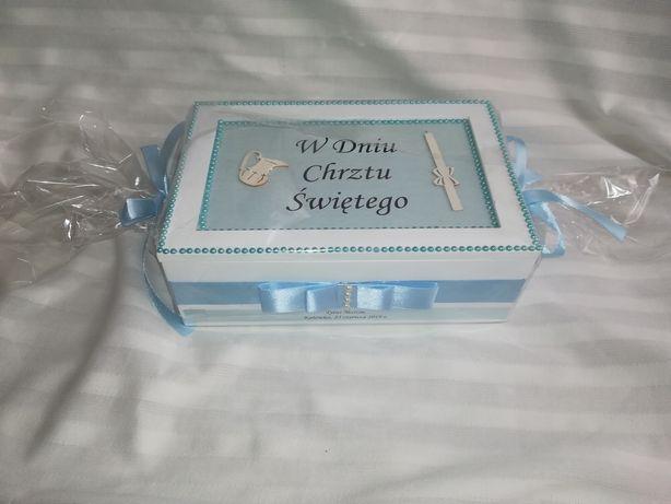 Pamiątka Chrztu Świętego, Pudełko na Chrzest, Kartka na Chrzest
