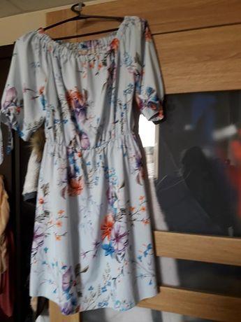 Elegancka Sukienka Kwiaty Hiszpanka Włoska Uniwersalny Rozmiar