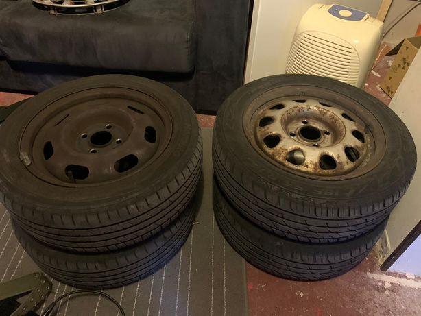 Jantes 14 de ferro para VW Polo + pneus 185/55 R14