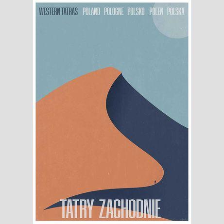 Tatry Zachodnie grafika plakat