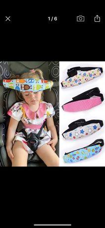 Регулируемый ремень для крепления головы на автомобильных сидениях