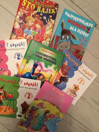 Książeczki dla dzieci, 7 szt, wiersze i bajki, Brzechwa, Tuwim itp