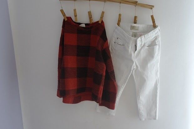 Zestaw bluza h&m spodnie jeansy jeansowe biale dzinsy Gap 116