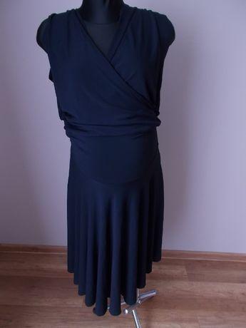 Granatowa elegancka sukienka ciążowa karmienie