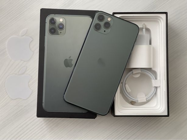 iPhone 11 Pro Max Midnight Green Neverlock 64Gb 86%