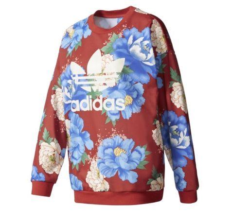 Bluza Adidas orginals kwiaty chita oversize xs