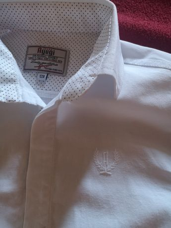Біла сорочка Белая нарядная рубашка для мальчика Ayugi Турция 6-7лет