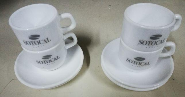 Chávenas café Sotocal novas e Chave Douro
