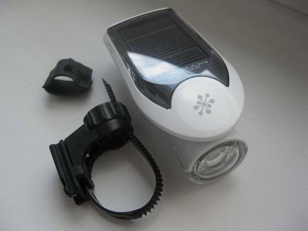 CATEYE lampa solarna przednia EL020 HYBRID 2 źródła zasilania