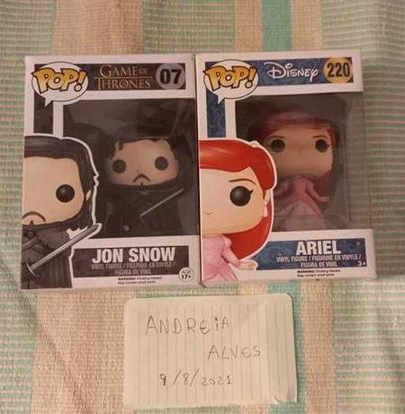 Funko pop Jon snow e Ariel