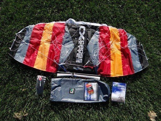 Latawiec komorowy z BAREM Cross Kites Boarder 1.8M BAR kitesurfing