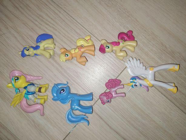 Figurki kucyki pony mlp celestia trixie apple jack fluttershy