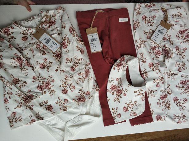 Komplet newbie bluzeczka legginsy apaszka 86