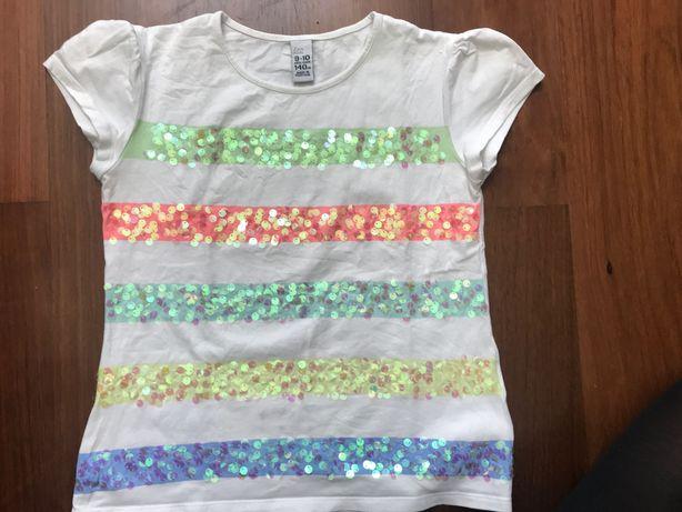 T-shirt Zara kids 9/10 anos com lantjoulas