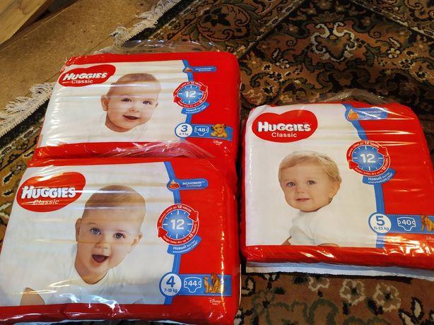 Підгузники Huggies Classic 3  4 5 памперси Хаггіс хагіс розмір 3, 4, 5