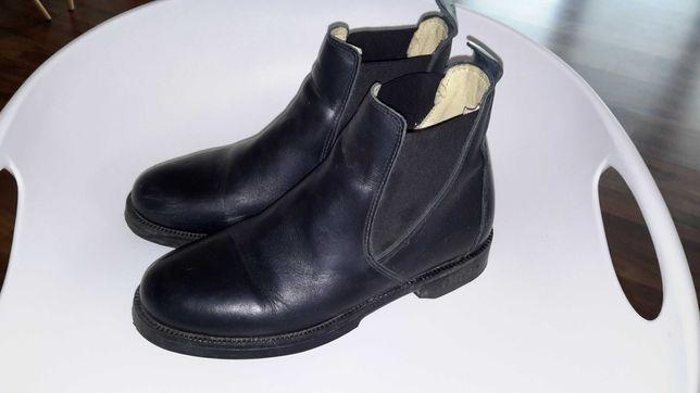 Sztyblety  buty skórzane jeździeckie fouganza