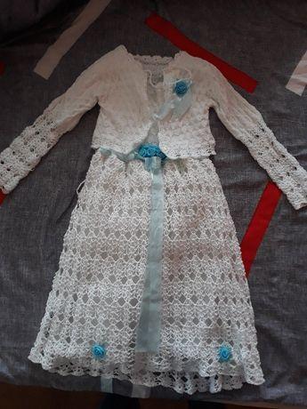 Sukienka szydelko