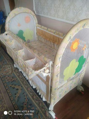 Детский манеж-кровать
