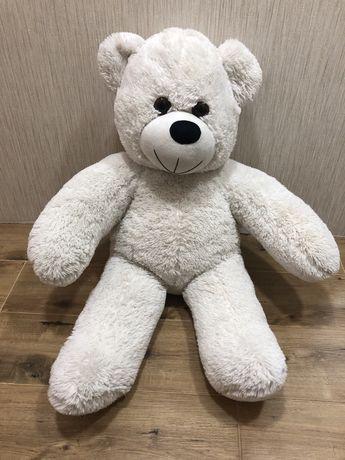 Белый медведь, мягкий, большой, пушистый, игрушка