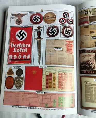 Książka Berliner Auktionhaus 2012 2 Wojna SS Skarby Bagnety