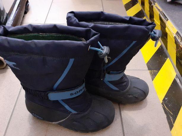 buty kalosze śniegowce dziecięce Sorel r32 wodoodporne youth flurry