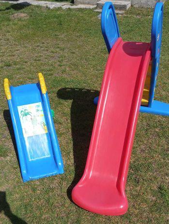 Zjeżdżalnia zjeżdżalnie ogrodowe mała 100cm i duża 180cm +taczka