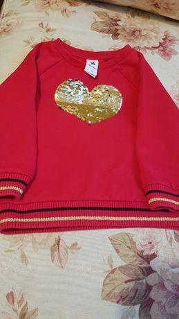 Bluza dziewczęca z cekinami 116 C&A Palomino