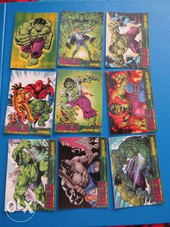 Avengers topps hulk karty kolekcjonerskie 64szt UNIKAT