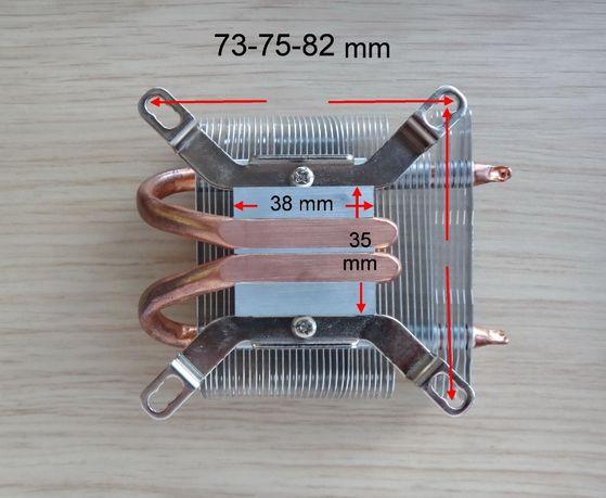 Радиатор система охлаждения кулер для процессора Intel медь алюминий